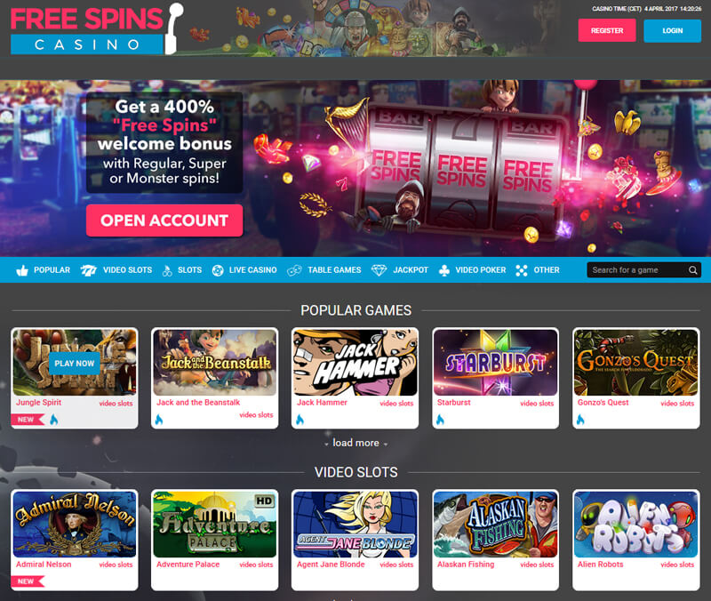 Free spins casino review