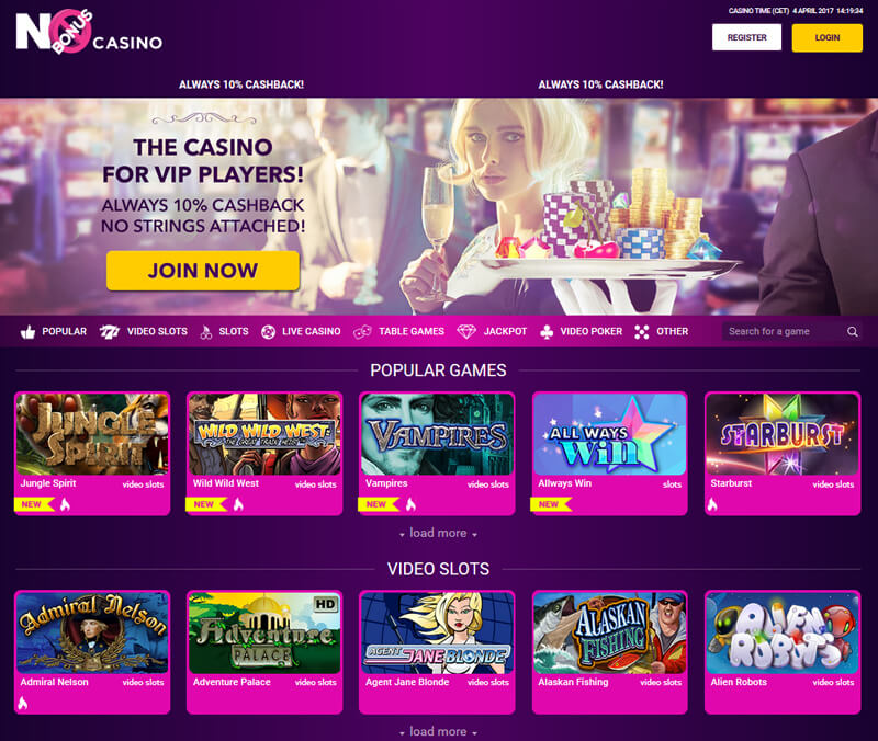 No bonus casino review
