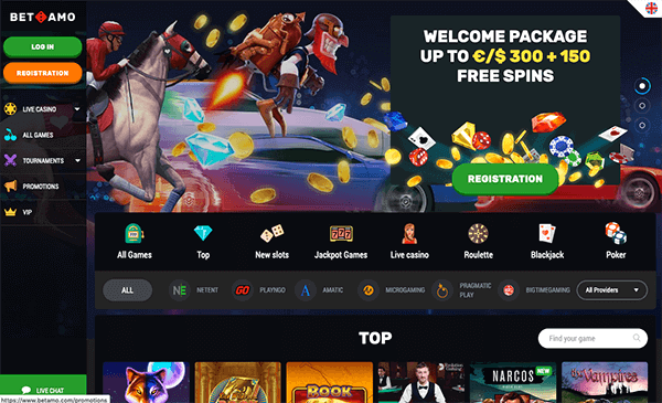 Betamo casino screenshot
